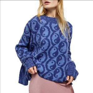 Free People Yin Yang Oversized Sweater NWT